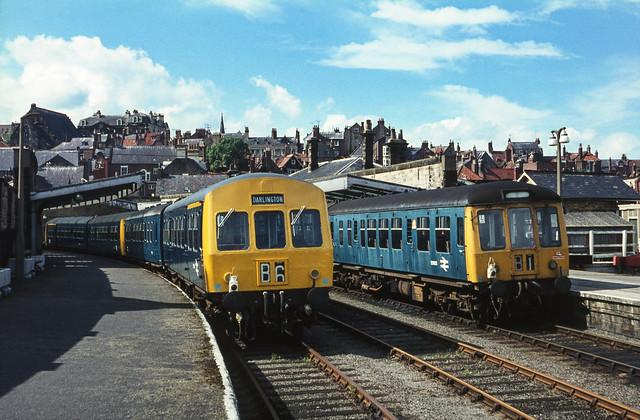 Class 101 / 108 DMUs @ Whitby, 27/06/1971 [slide 7112]