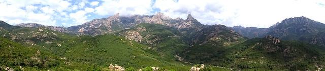 Panoramique Castedducciu - Pta di Monte Sordu et secteur du ruisseau de la Sainte-Lucie