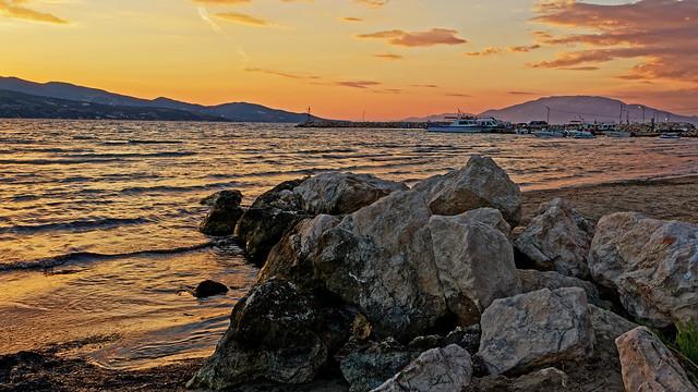 A Greek Sunset (Zante - Alykanas Harbour) Panasonic LX15 Compact