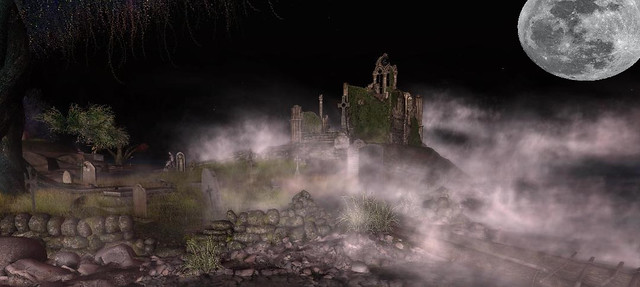 The ruins at midnight