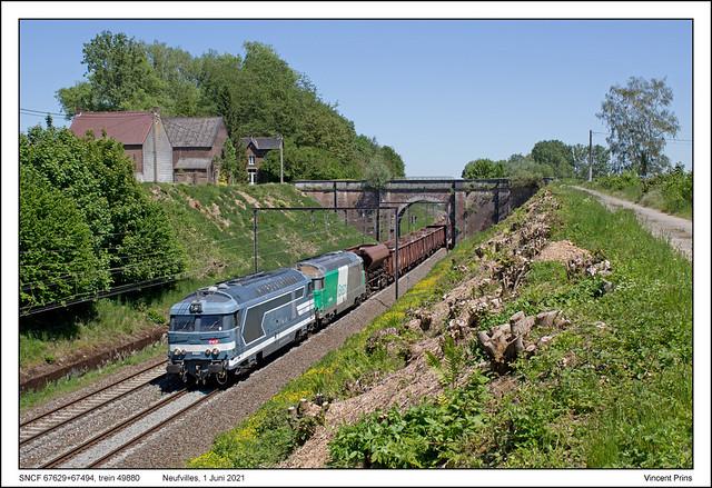 SNCF 67629+67494 - Neufvilles - 49880 (01-06-2021)