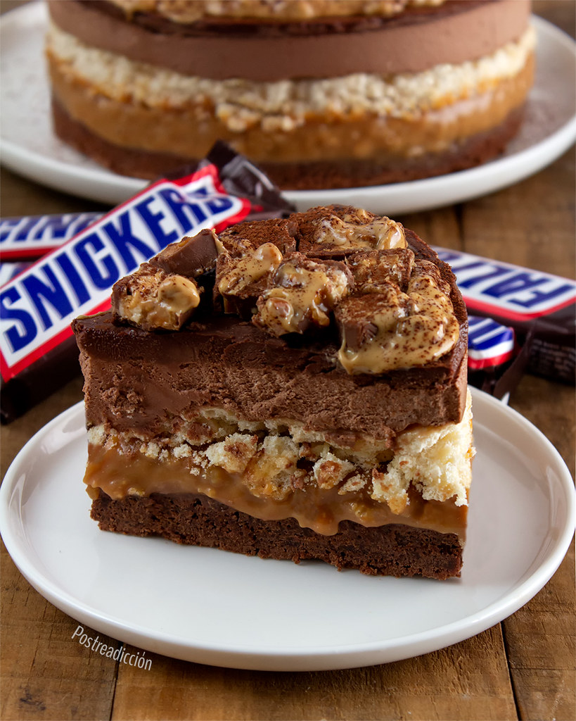 receta cheesecake snickers