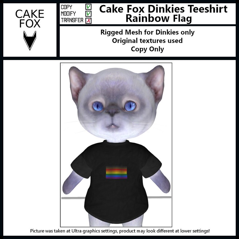 """<a href=""""https://pieni.art/new-cake-fox-dinkie-fashion-pride/"""" rel=""""noreferrer nofollow"""">Pieni.art blog post</a>: New Cake Fox store at <a href=""""http://maps.secondlife.com/secondlife/Second Pride East/71/233/37"""" rel=""""noreferrer nofollow"""">Second Pride</a>.  100% donation to <a href=""""#///app/group/e8560935-aa78-1703-8e9f-09e6f32c72a5/about"""" rel=""""noreferrer nofollow"""">Second Pride</a>"""