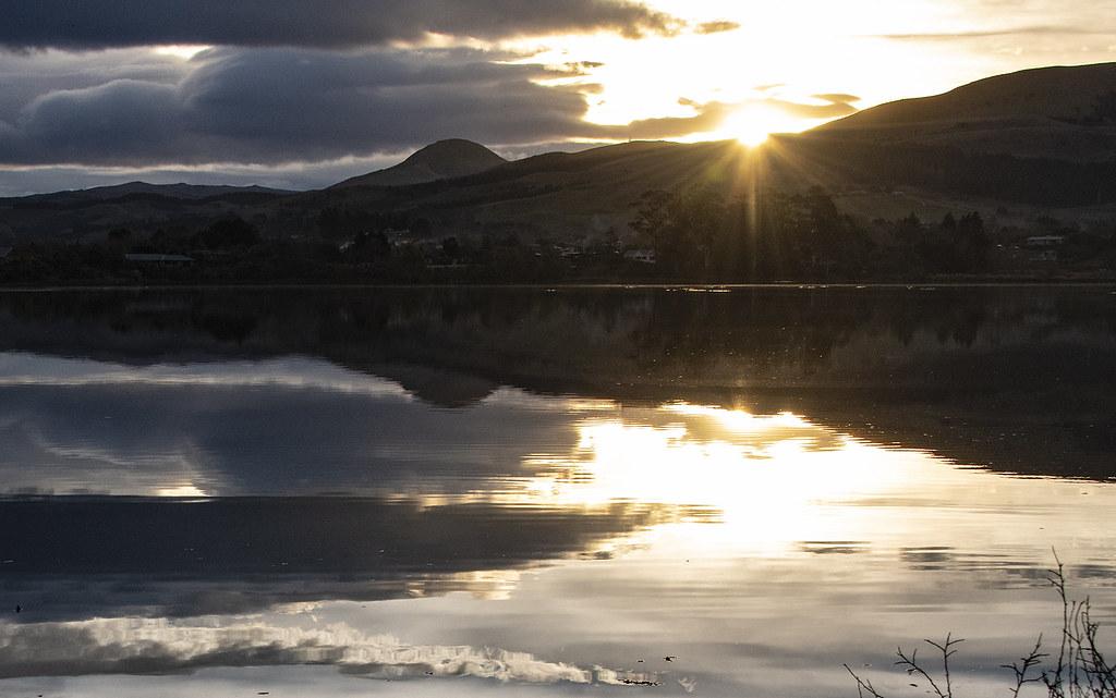 Last light on the lagoon