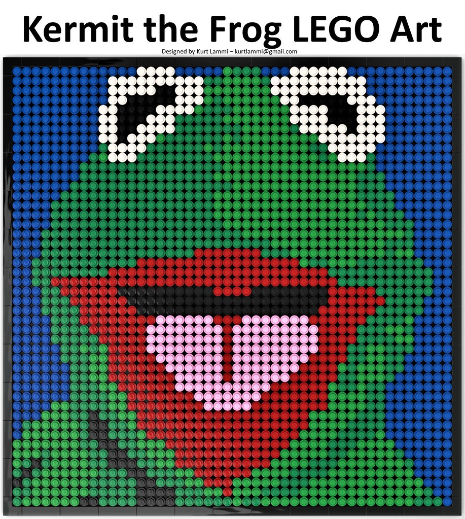 Kermit the Frog LEGO Art