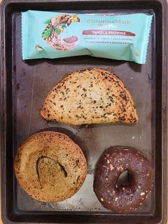 Cheeseburger Pie, Vegan Pastie, Vegan Chocolate Crunch Doughnut, ice cream from Pie Face
