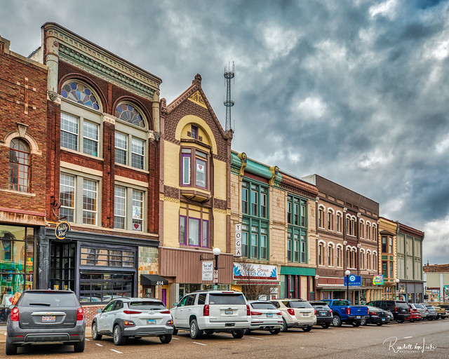 Late 19th Century Buildings On N. Main St., Bloomington, Illinois