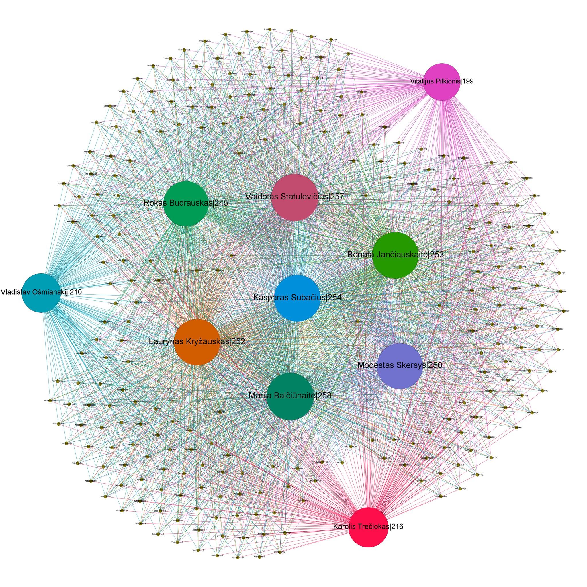 Kontrolės komisijos diagrama.