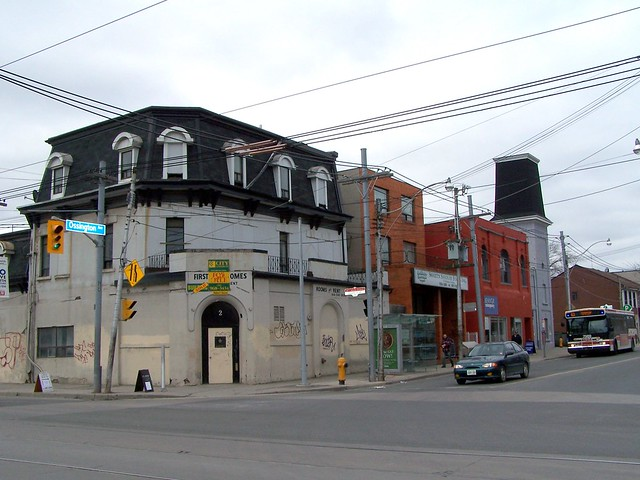 Toronto - Ontario - Canada - Former Hotel & Draft Room - Lost - Ossington Lofts Now - Demolished