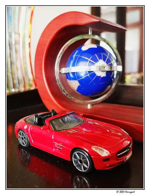 red mercedes sls amg roadster