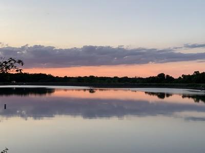 Sunset on Thursday Night at Lake Crawford
