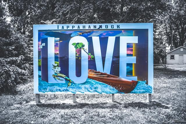 VA LOVEworks Sign in Tappahannock Town Park
