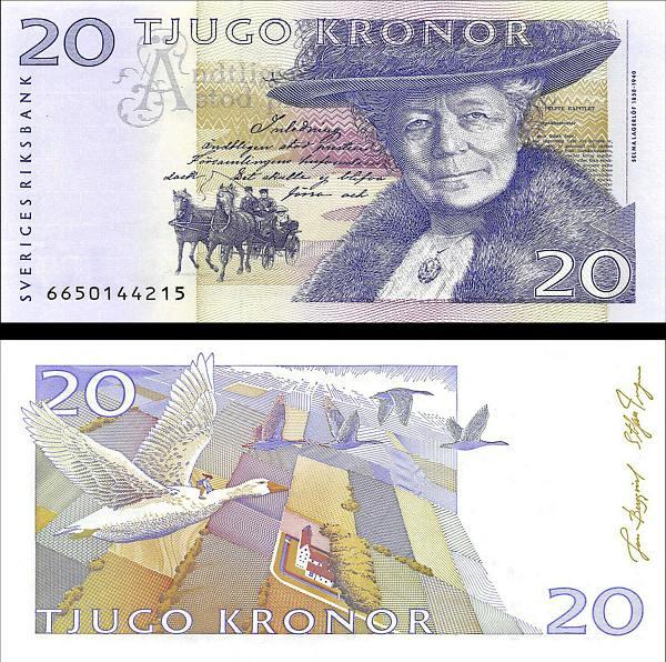 20 Korún Švédsko 2001-2003, P63