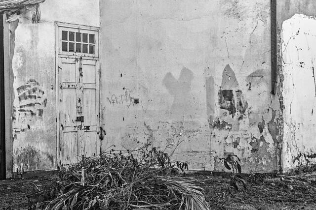 Door and wall.