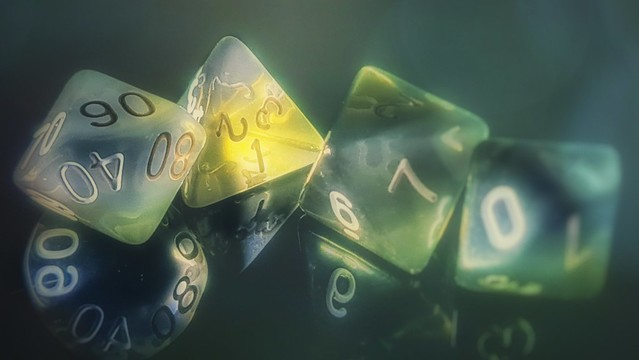 Board game pieces.