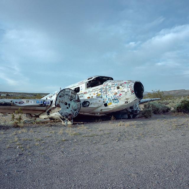 crash landing. beatty, nv. 2016.