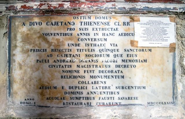 Napoli (NA), 2021, Edicola votiva già ingresso della casa di San Gaetano Thiene.