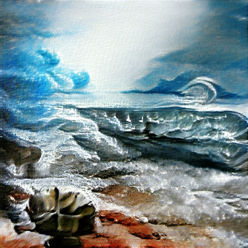'seascape painting' Text2Image v2 Text-to-Image