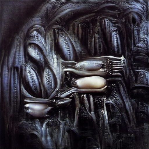 'H R Giger' The Big Sleep Customized Text-to-Image