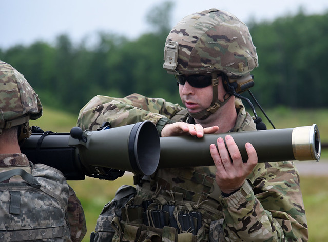 116th IBCT Soldiers train on new recoilless rifle system