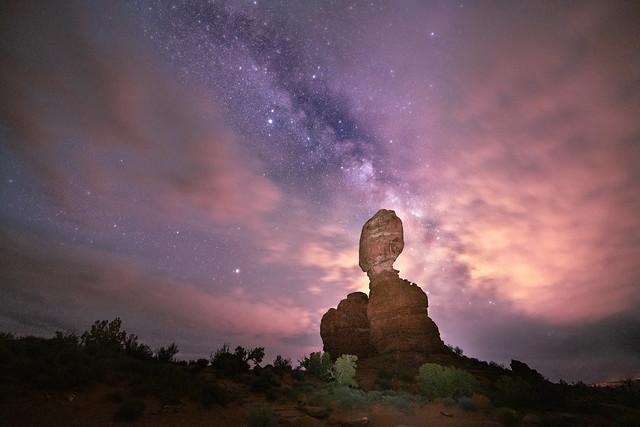 The Heavens Open Above Balance Rock [Explored]
