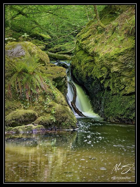 Waterfall at The Hidden Gardens, Plas Cadnant