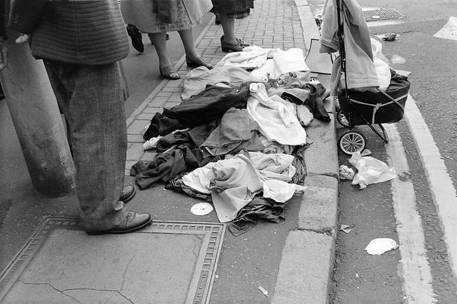 Old Clothes, Brick Lane market, Tower Hamlets, 1990, 90-73-61
