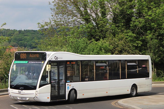 Go North East 5508 / YJ62 FLD