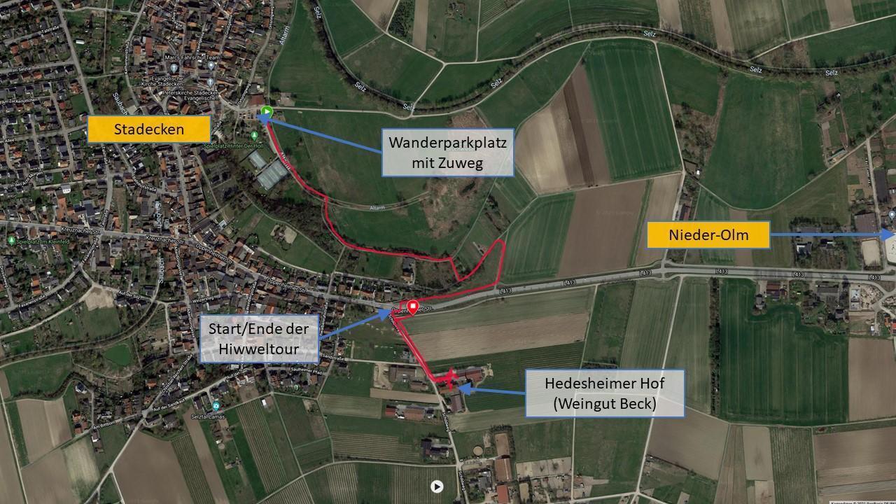 Making of Hiwweltour Stadecker Warte - Tracking des Zuwegs