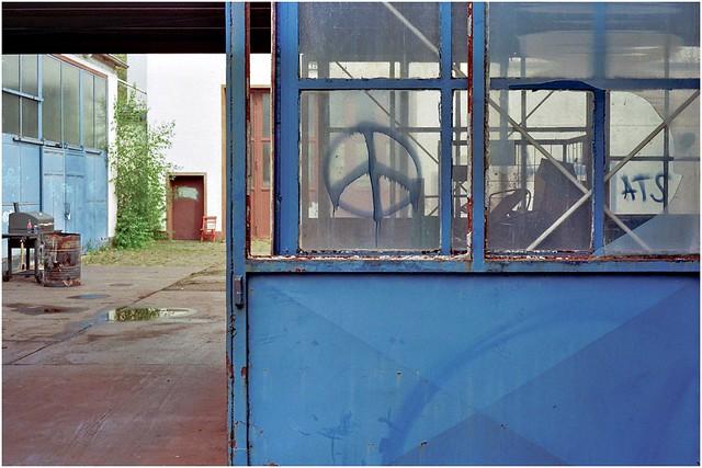 Verlassene Furnierfabrik