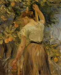 Young Woman Picking Oranges - 1889 - PC