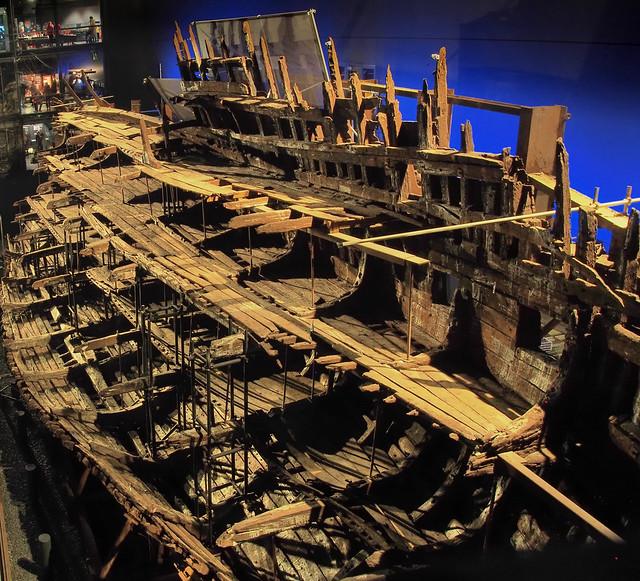 Mary Rose - Tudor carrack warship, 1510-45 - Historic Dockyard, Portsmouth, England