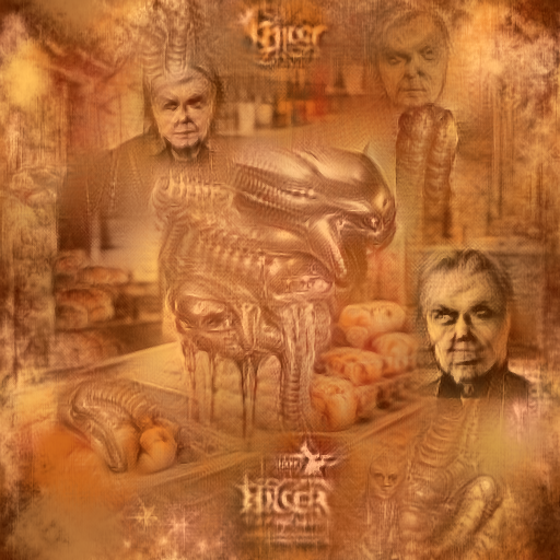 'H R Giger' CLIP Pseudo Slime Mold Text-to-Image