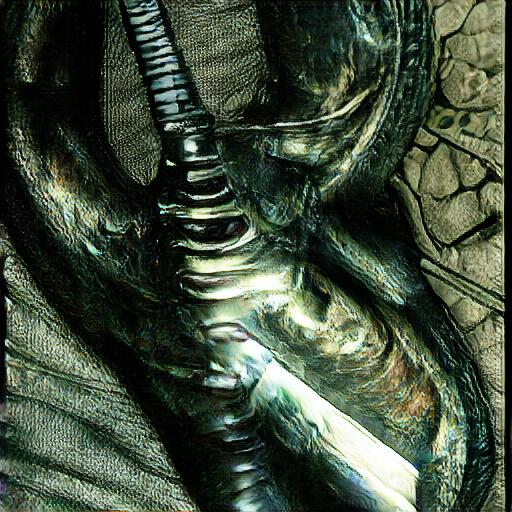 'H R Giger' CLIP-GLaSS Text-to-Image