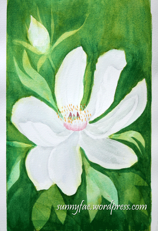 watercolour painting of a flower