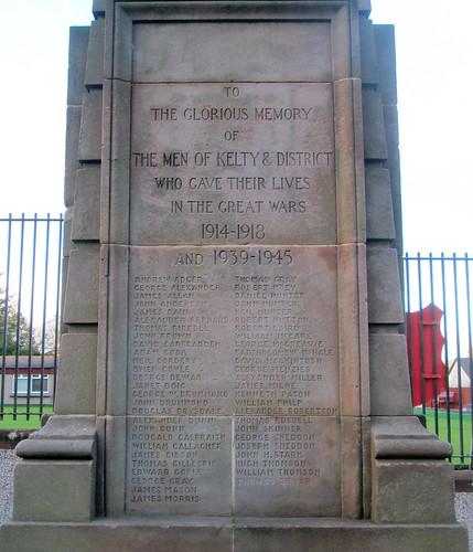 Kelty War Memorial Dedication