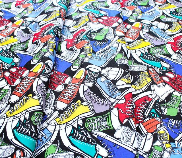 Timeless Treasures Back to School C5522-BRT Bright Sneaker Toss