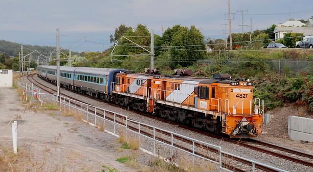 4827 & 4819 'TRAINLINK' EMPTY CAR TRANSFER TO BROADMEADOW - TERALBA 8th June 2021.