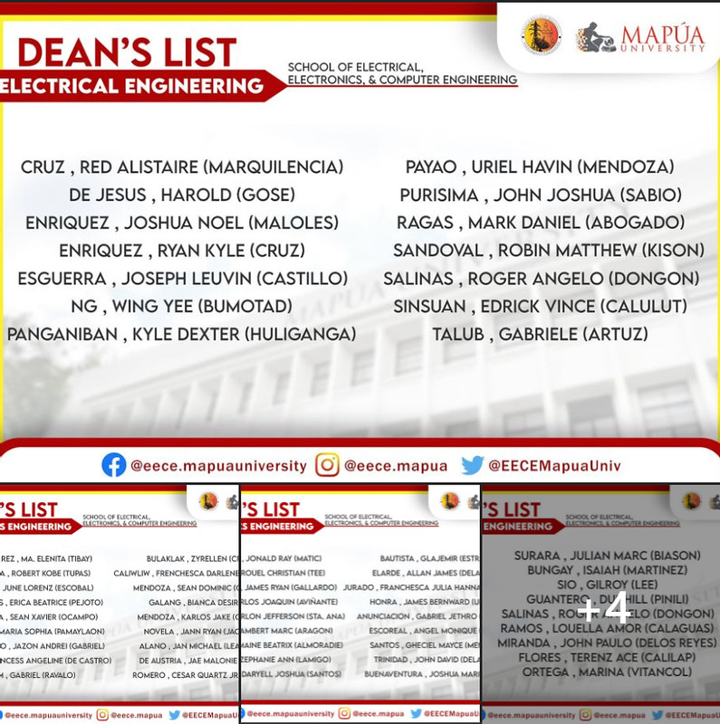 Dean's and President's Lists - 4th Quarter, SY 2020-2021