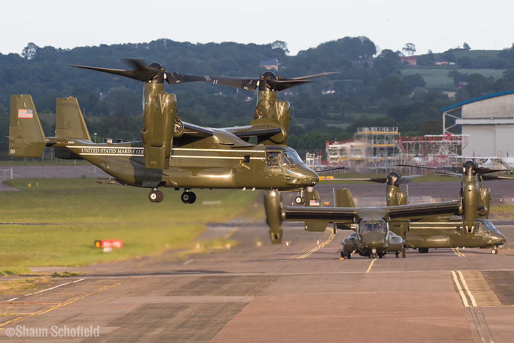 Bell Boeing MV-22B Osprey | 168297/05 | US Marine Corps | Exeter Airport | 07/06/21