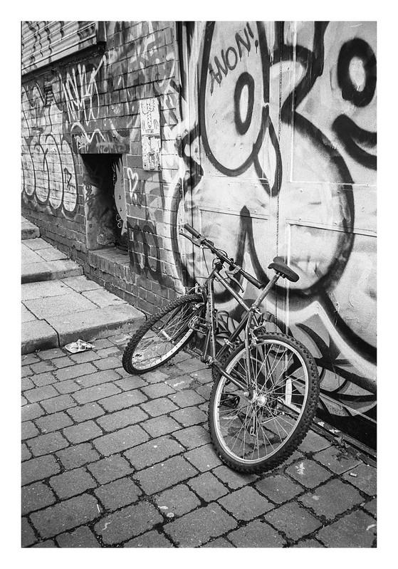 Graffiti and bike