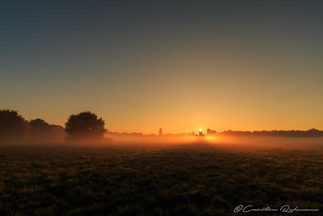 Sonnenaufgang am Haus Ripshorst