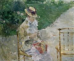 Young Woman Sewing in the Garden - 1883 - Metropolitan Museum of Art (USA)