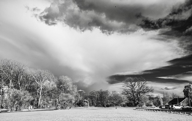 Big clouds over Witham (infrared)