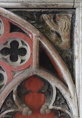 Tottington screen: lion (15th Century)