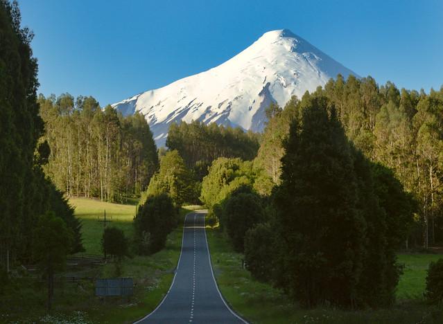 Patagonia road to Osorno volcano, Chile