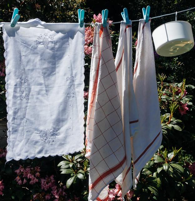 de was / the laundry