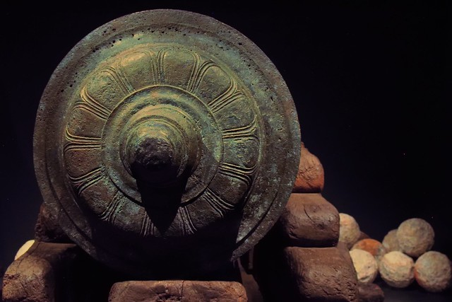 Bronze cannon - Mary Rose Museum, Historic Dockyard, Portsmouth, England