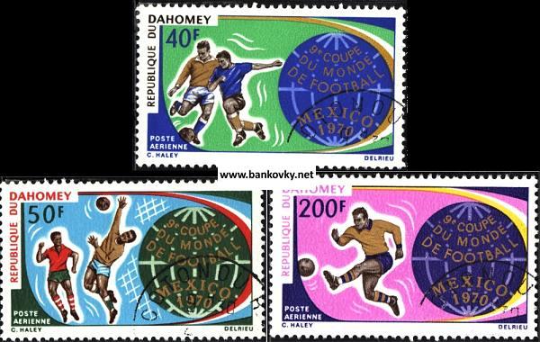 Známky Dahomey 1970 Futbal MS 70, MNH