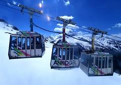 Série tří kabinek na Ankogelu